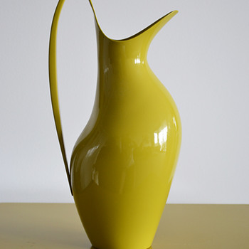 Henning Koppel pitcher for Georg Jensen (Yellow enamel)
