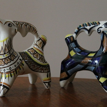 Ceylon Ceramics hand painted deer - Pottery