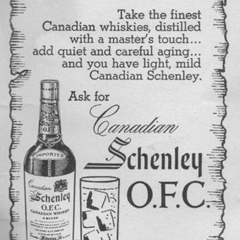1950 Schenley Advertisements
