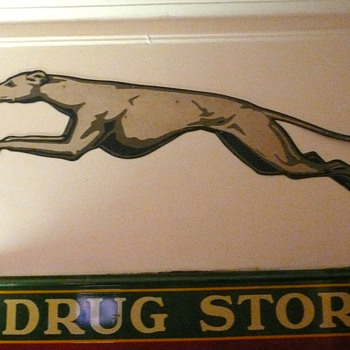Greyhound Bus Double Sided Greyhound Sign