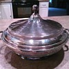 Silver Casserole with Glass Insert
