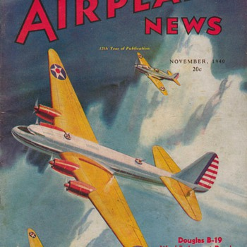 1940 - Model Airplane News magazine - November