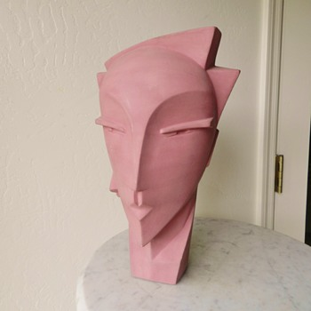 Art Deco Revival Lindsey Balkweill MYNG Mannequin Ceramic Bust Head - Visual Art