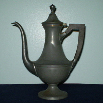 Pewter Coffee Pot - Sterling Silver