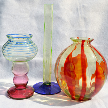 Czech vaseline - Art Glass