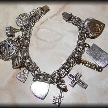 1970's  Sterling Silver Charm Bracelet ( My Moms )