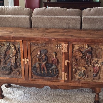 Spanish? Hand Carved Credenza - Furniture