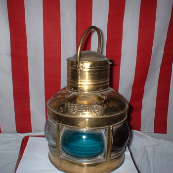 Brass Vietnam Boat Light - Military and Wartime