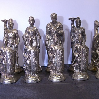 My Brass & Silver Roman Chess Pieces - Games