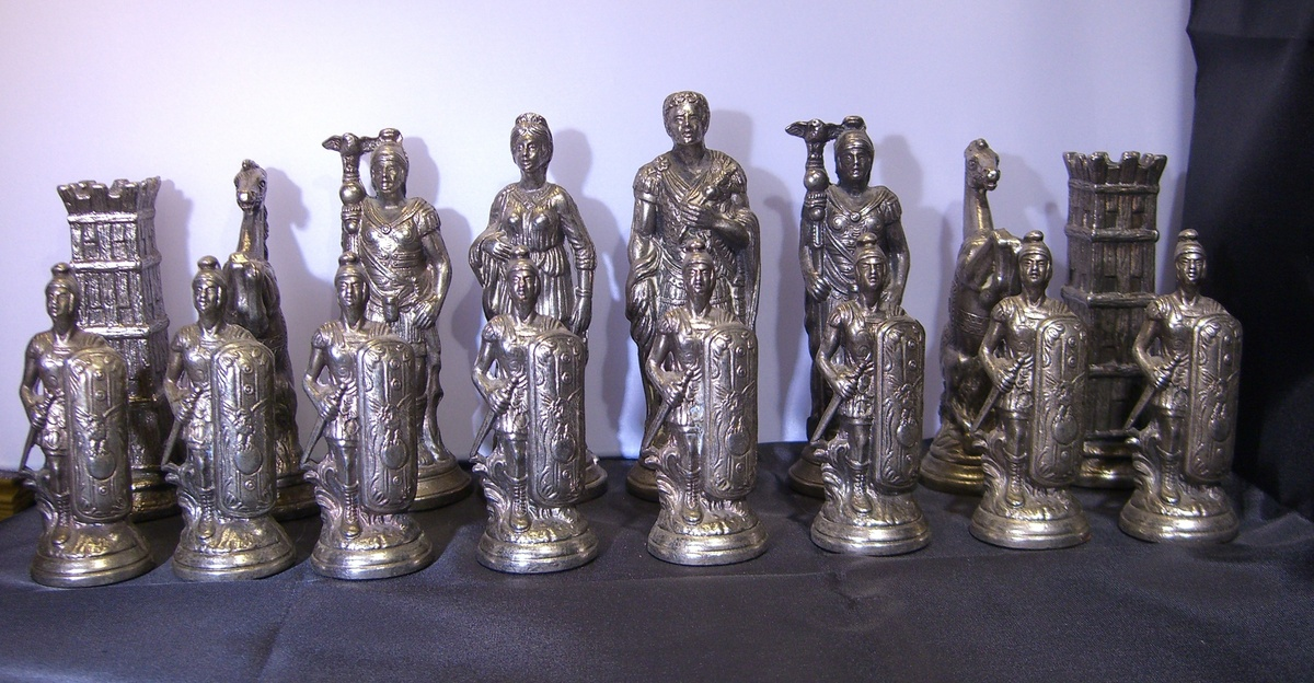 My Brass Silver Roman Chess Pieces Collectors Weekly