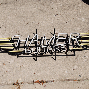 Neon Hamer guitars sign from 1989  - Signs