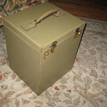 Vintage English Made  Hat Trunk
