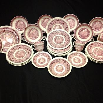 Mason's Vista Pink Ironstone China  - China and Dinnerware