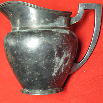 Antique Silverplate Pitcher A3123 - Sterling Silver