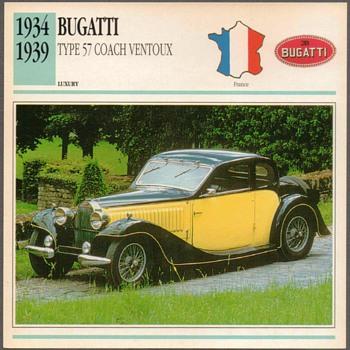Vintage Car Card - Bugatti Ventoux