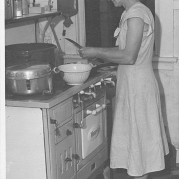 Farm Kitchen with my Grandmother cooking  - Photographs
