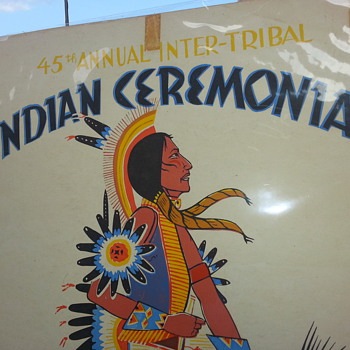 AN ORIGINAL AMERICAN INDIAN (Louie Ewing)  CEREMONAL POSTER - Posters and Prints