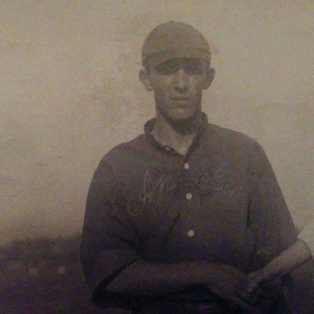 My grandfather with a ballplayer
