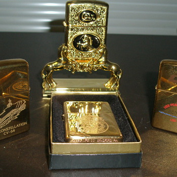 More Zippo Lighter's Goldtone - Military and Wartime