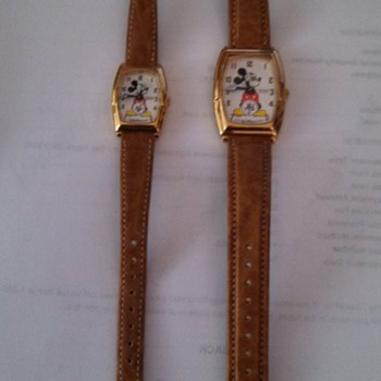 1987 60th anniversary man & womens mickey mouse watches