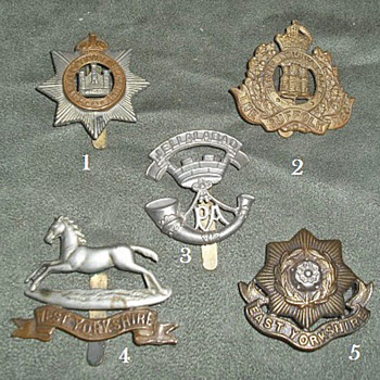 Badges for all 1914 British Line Infantry Regiments, Part 2 - Military and Wartime