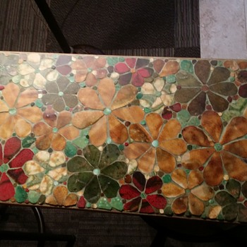 "MOSAIC FLORAL ""NEED HELP ID""  - Visual Art"