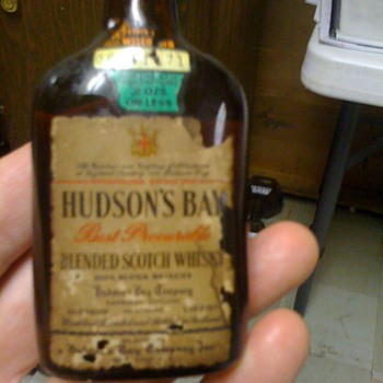 1/10 pint Hudson Bay Scotch unopened