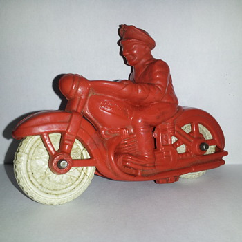 Rubber Police Motorcycle. Reliable Toys. - Motorcycles