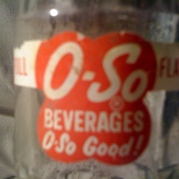 "vintage ""OSO"" beverages bottle - Bottles"