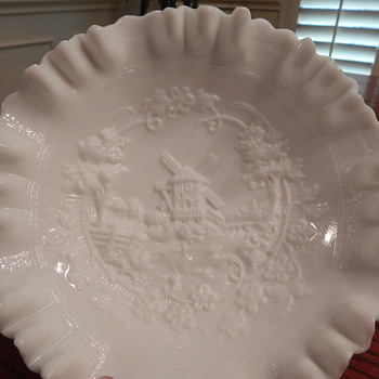 Imperial milk glass bowl