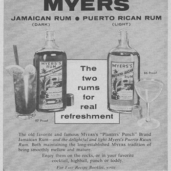1955 Myers Rum Advertisement
