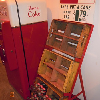 Vintage Coca-Cola Crates and Empties Rack