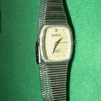 Antique Benrus Diamond Quartz Ladies Watch