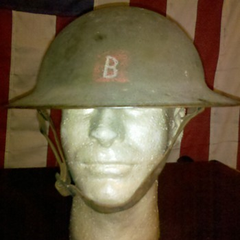 WWI US Army helmet with unknown insignia....