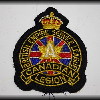 Dad's RCAF Cap ( and Legion Patch )