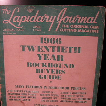 Lapidary Journal, 1966 Rockhound Buyers Guide - Paper