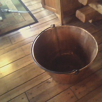 "copper apple butter kettle    28"" wide top 18"" tall"