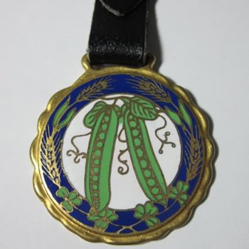 Early 1900's Alfred J. Brown Seed Co. Enamel Watch Fob