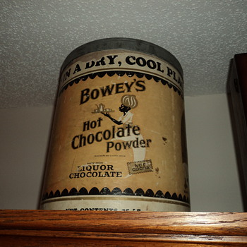 chocolate powder tin - Advertising