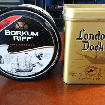 Borkum Riff London Dock tins