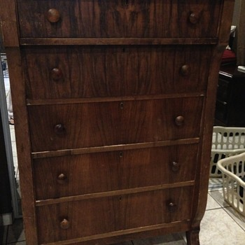 Five drawer chest from Hudsons Bay Co. Rosewood