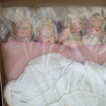 Vintage Dionne Cloth Infant Cryer Babies  - Dolls