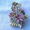 Antique enamel brooch