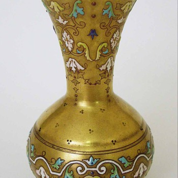 Extraordinary Enameled Vase Islamic Influence Signed