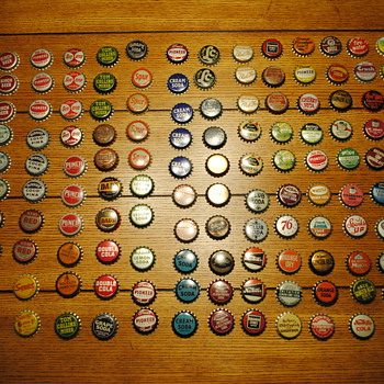 148 Uncrimped Cork Back Soda Bottle Caps - Bottles
