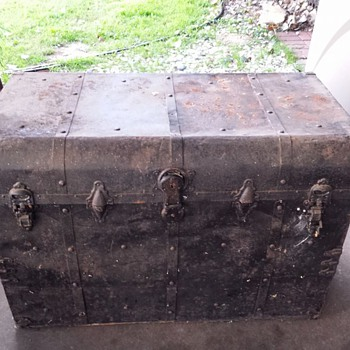 Old Metal Trunk