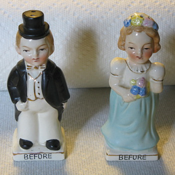 Before and After Marriage Salt and Pepper Shakers - Kitchen