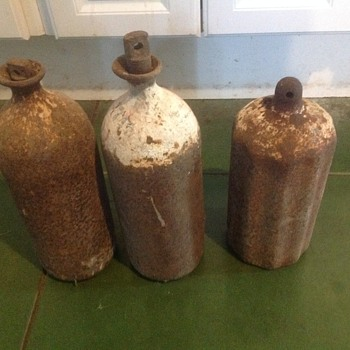 Cast Iron Liquid Flask - Bottles