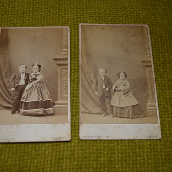 Victorian photo album - part II, General Tom Thumb and his wife