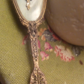 antique hair brush